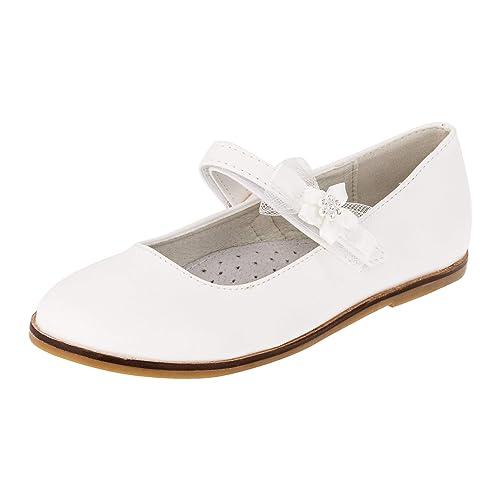 3c29a2a0309cd8 Giardino Doro Edle Festliche Innen Leder Kinder Mädchen Schuhe Ballerinas  mit Klettverschluss  Amazon.de  Schuhe   Handtaschen