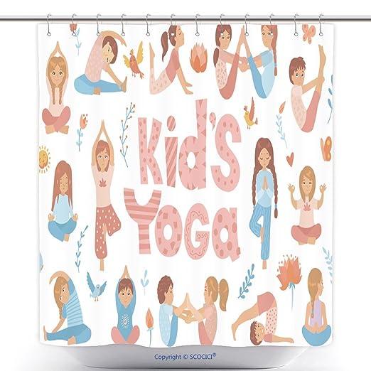 Vanfan-Cool - Cortinas de Ducha para niños, Yoga, Yoga, Yoga ...