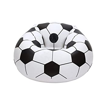 Amazing Inflatable Chair Mukin Football Shaped Lounge Chair Lazy Caraccident5 Cool Chair Designs And Ideas Caraccident5Info