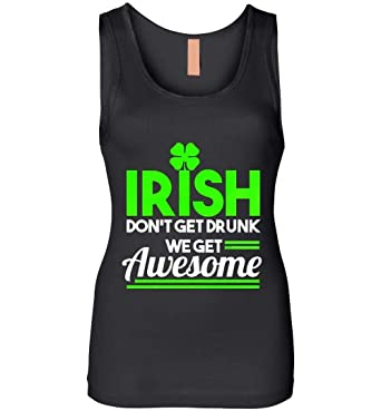 119084c11 Amazon.com: Irish Don't Get Drunk Clover St Patrick's Day Shamrock Lacrosse  - St Patricks Day - Tank Top: Clothing