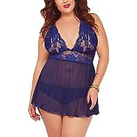 a3dec6c3260 JuicyRose Open Back Lingerie Lace Babydoll Sleepwear Plus Size