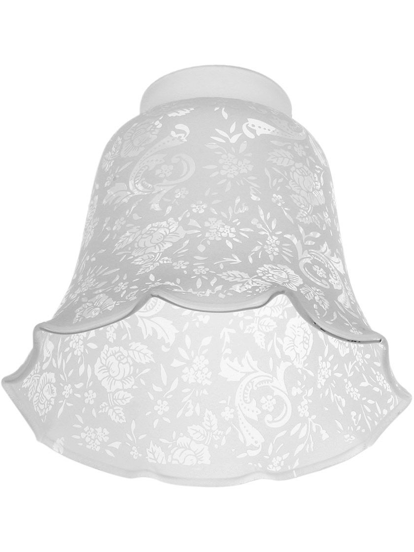 Victorian Lace Filigree Fixture Shade With 2 1/4'' Fitter