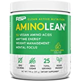 RSP Vegan AminoLean - All-in-One Natural Pre Workout, Amino Energy, Weight Management - Vegan BCAAs, Preworkout for Men & Wom