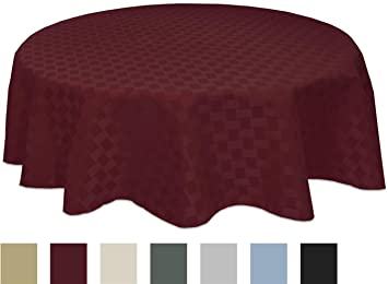 Bardwil Reflections Spill Proof Oval Tablecloth, 60 X 84 Inch, Merlot