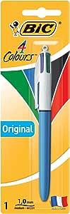 BIC 4 Colours Original Retractable Ball Pens Medium Point (1.0 mm) - Pack of 1 Pen