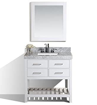 Pacific Collection 40 Laguna White Single Modern Bathroom Vanity