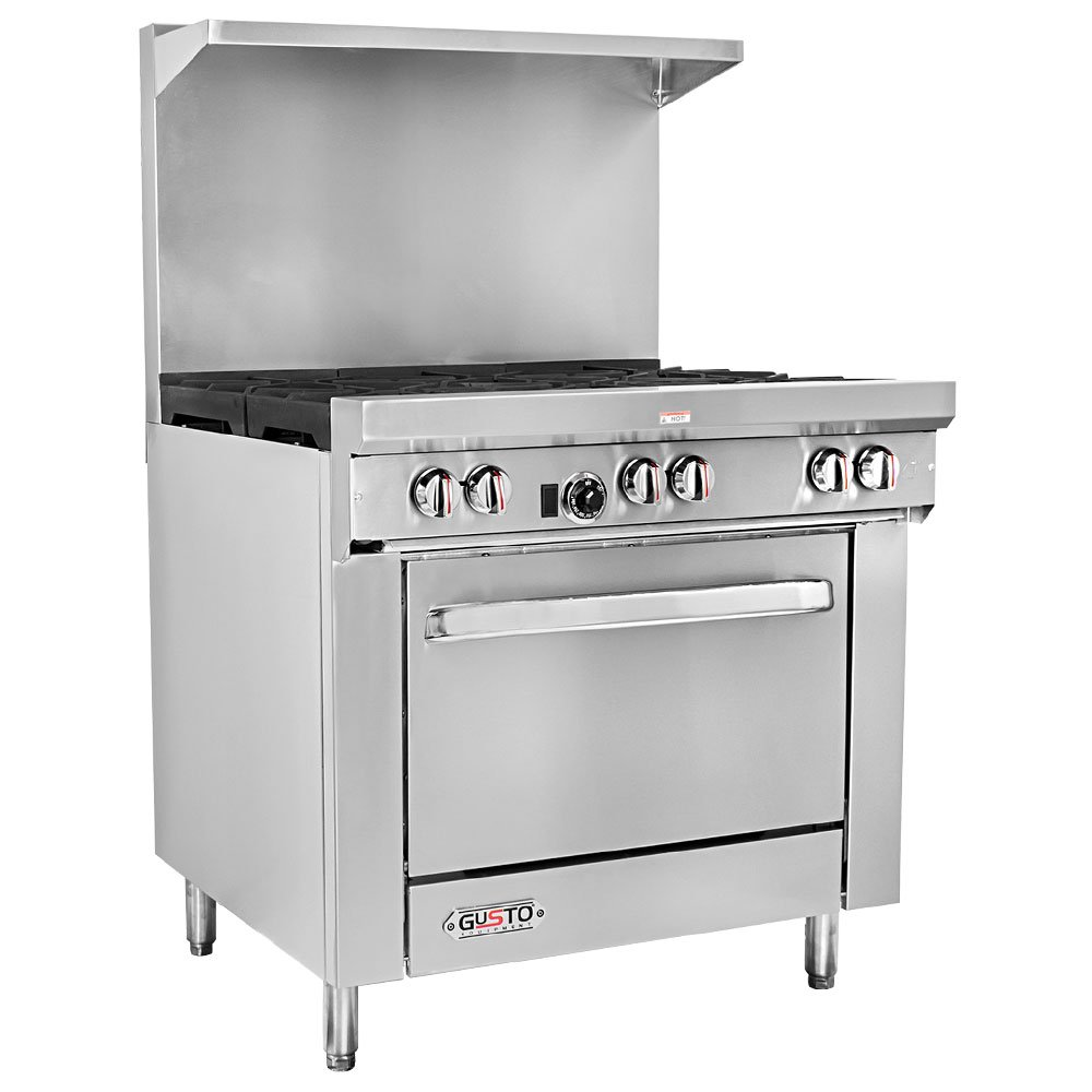 Gusto - 36'' Natural Gas Range w/ 1 Oven & 6 Burners