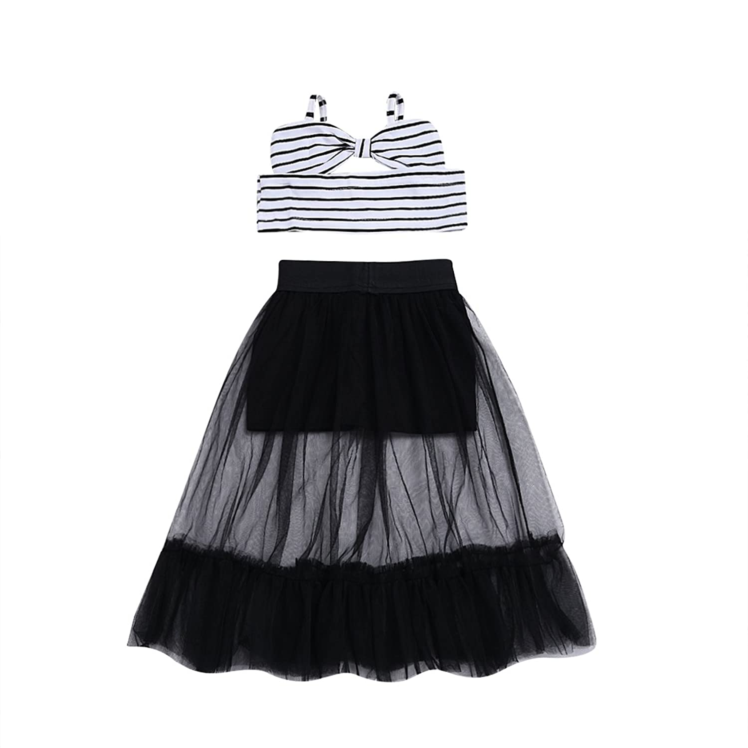 6f90a4edc0 ☆Infant toddler girl skirt set with bottom,Tulle spaghetti strap tank top  with bowknot,It makes your little charming and pretty.the best dress for  your ...