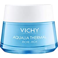 Vichy Hydrating Rich Facial Cream Moisturizer, Aqualia Thermal Rich Face Cream with Natural Origin Hyaluronic Acid for…