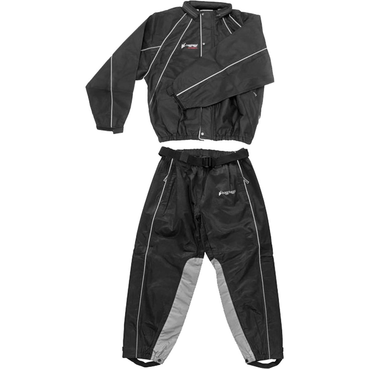 Frogg Toggs Hogg Togg Men's Street Motorcycle Rainsuit - Black/Large
