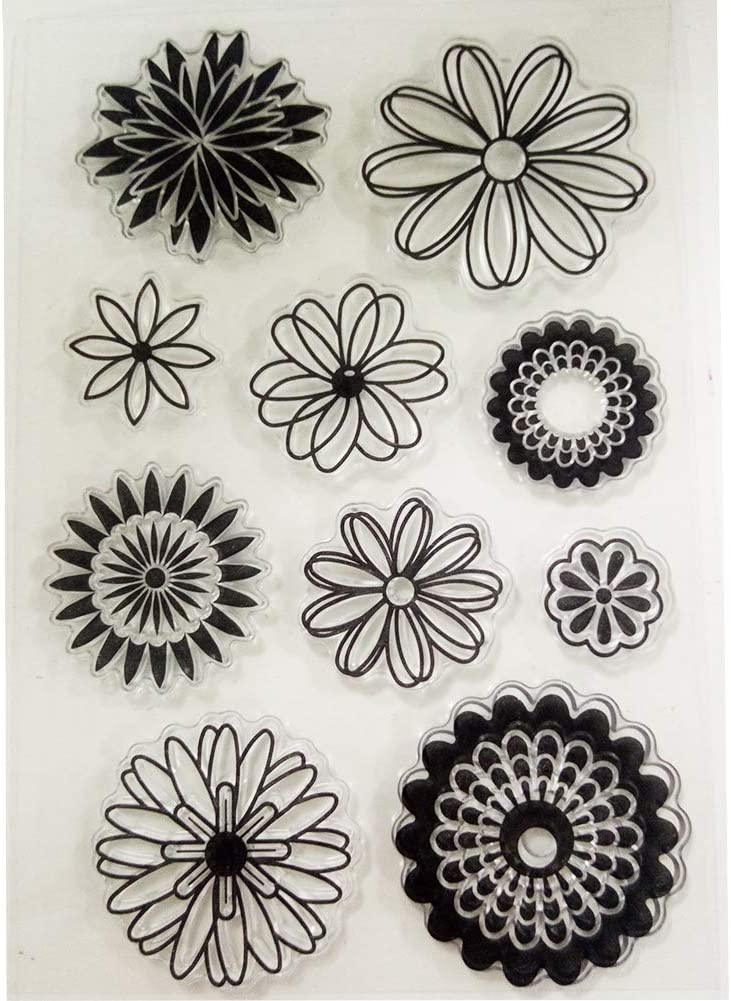 flowers  scrapbook diy photo album cards transparent silicone rubber  stamps  I