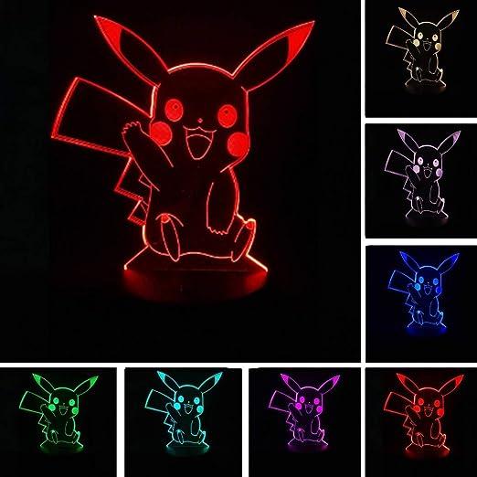 Pikachu Pokemon Go Figura de acción Dormir para niños Luz ...