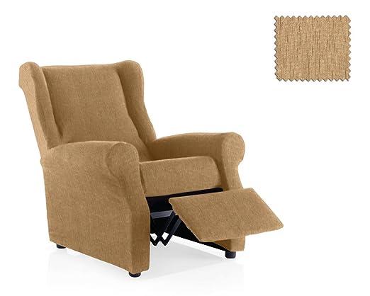 JM Textil Funda de sillón Relax elástica Haber Tamaño 1 Plaza (Estándar), Color 01