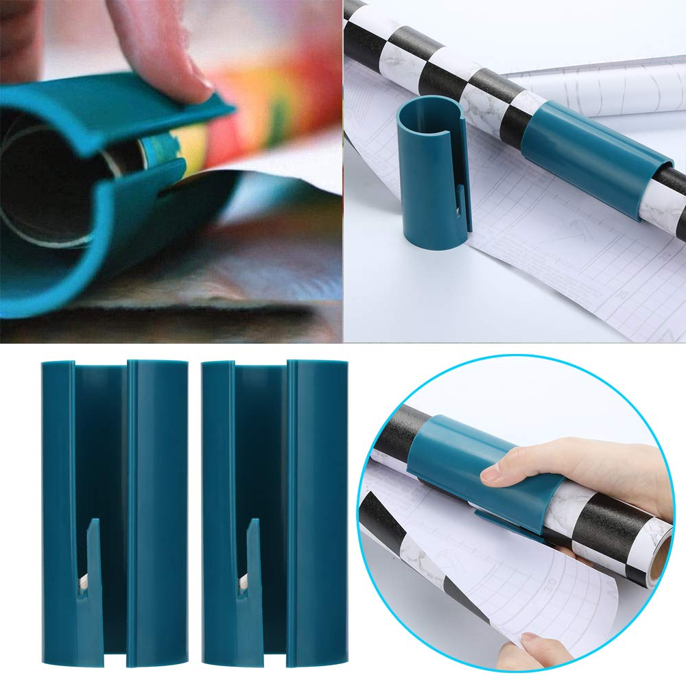 Wrapping Paper Cutter,Cloudro Christmas Gift Wrapping Paper Cutting Tools Sliding Wrapping Paper Cutter Makes Cuts in Seconds (Green)