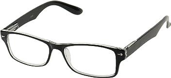 50a1051a8a0 Basik Eyewear - Rectangular Dual Color Frame Rx Prescription Spring Hinge Readers  Reading Glasses +1.0