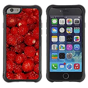 Suave TPU GEL Carcasa Funda Silicona Blando Estuche Caso de protección (para) Apple Iphone 6 / CECELL Phone case / / Fruit Macro Raspberry Red /
