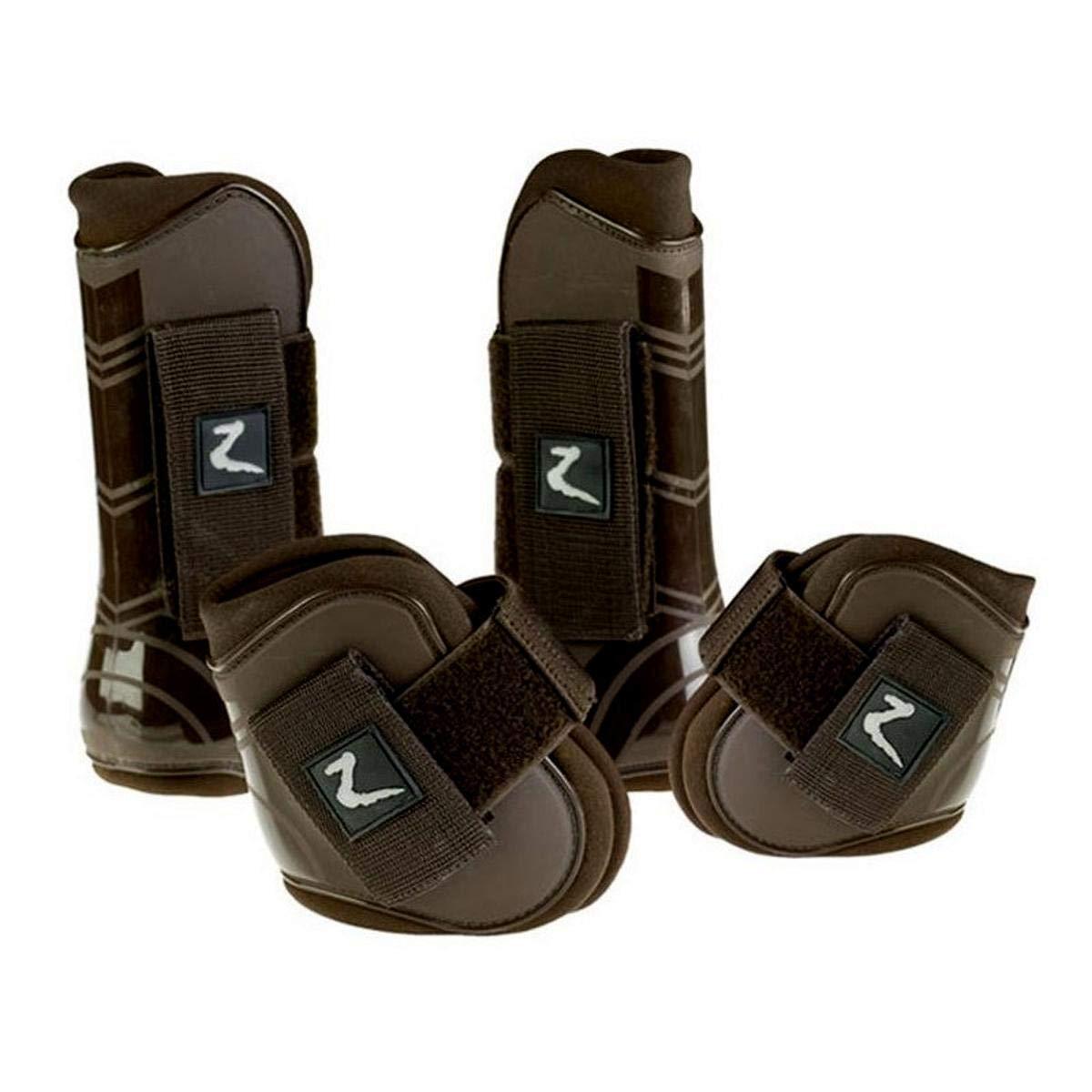 Horze Advanced ProTec Boot Set - Brown - Full