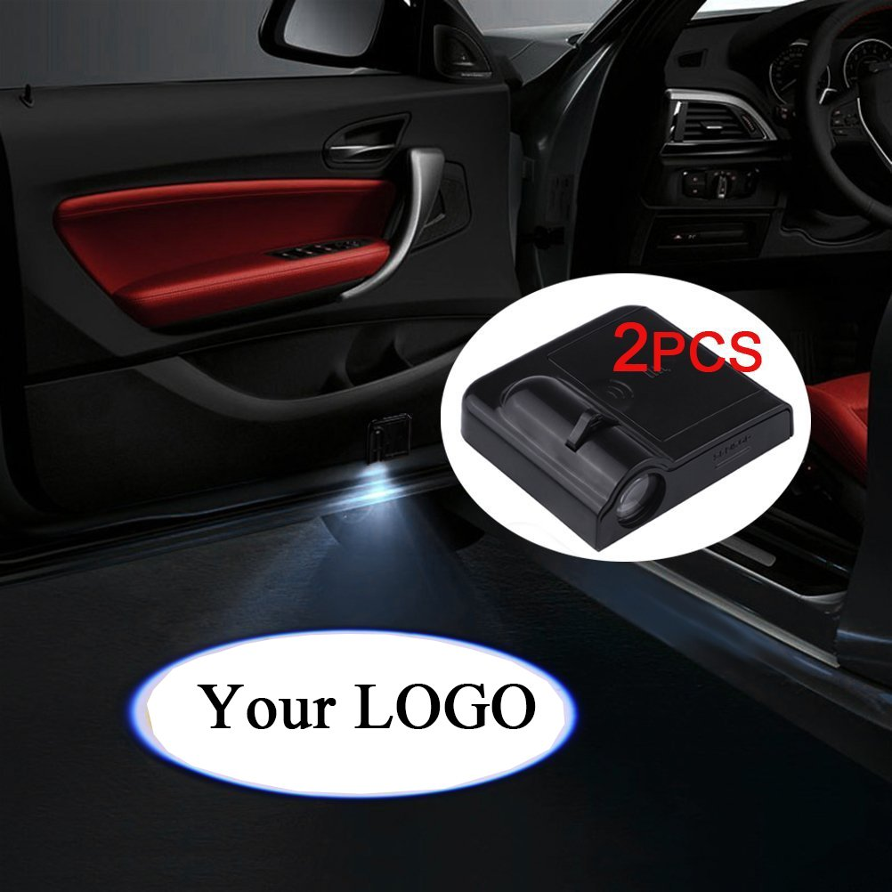 Tiger Accept Custom Logo Fangfei 2x Wireless Laser Projector Car Door Step Courtesy Welcome Lights for BMW Puddle Ghost Shadow LED Lights