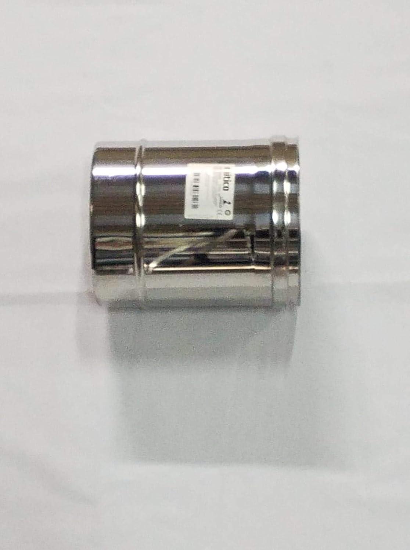 Tubo in acciaio inox per canne fumarie L250mm DN 130