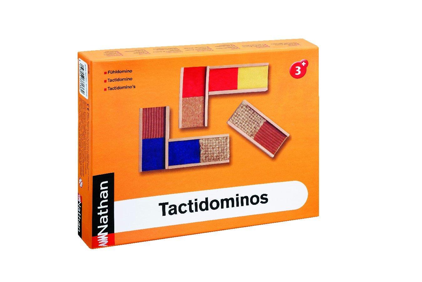 Nathan 337136 Tactidominos Sensory Game, Multi color