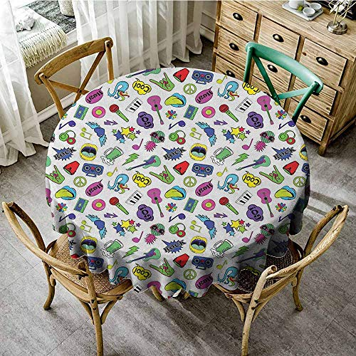 Rank-T Grid Round Table Cloth 70