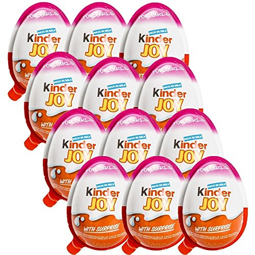 Chocolate Kinder Joy For Girls With Surprise Inside  12 Pack