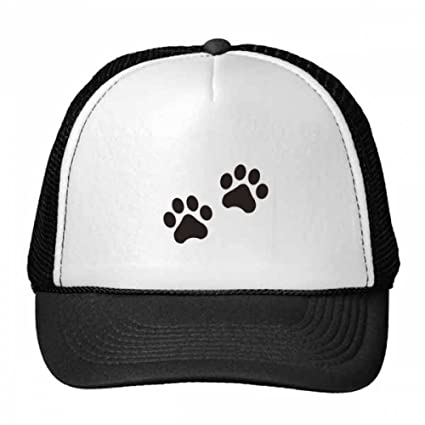 Leopard Print Paw Children Baseball Cap Hat Black