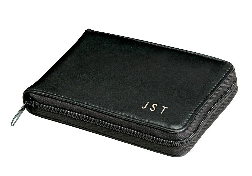 Personalized Leather Zipper Wallet by Miles Kimball (Image #1)