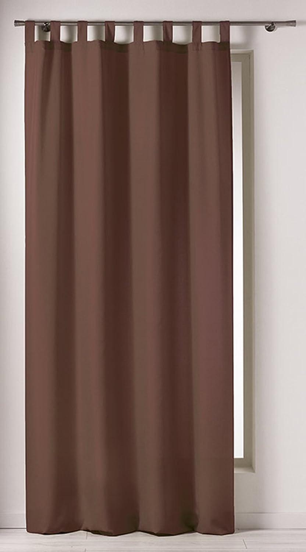 Douceur D'Inté rieur - 1603265, Tenda Con Passanti, 140 X 260 Cm, Punchy, Poliestere Unito, Marrone Douceur d' Intérieur