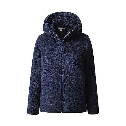 LI SHI XIANG SHOP Abrigo Casual Blusa con Cremallera Gruesa de Invierno para Mujer (Color