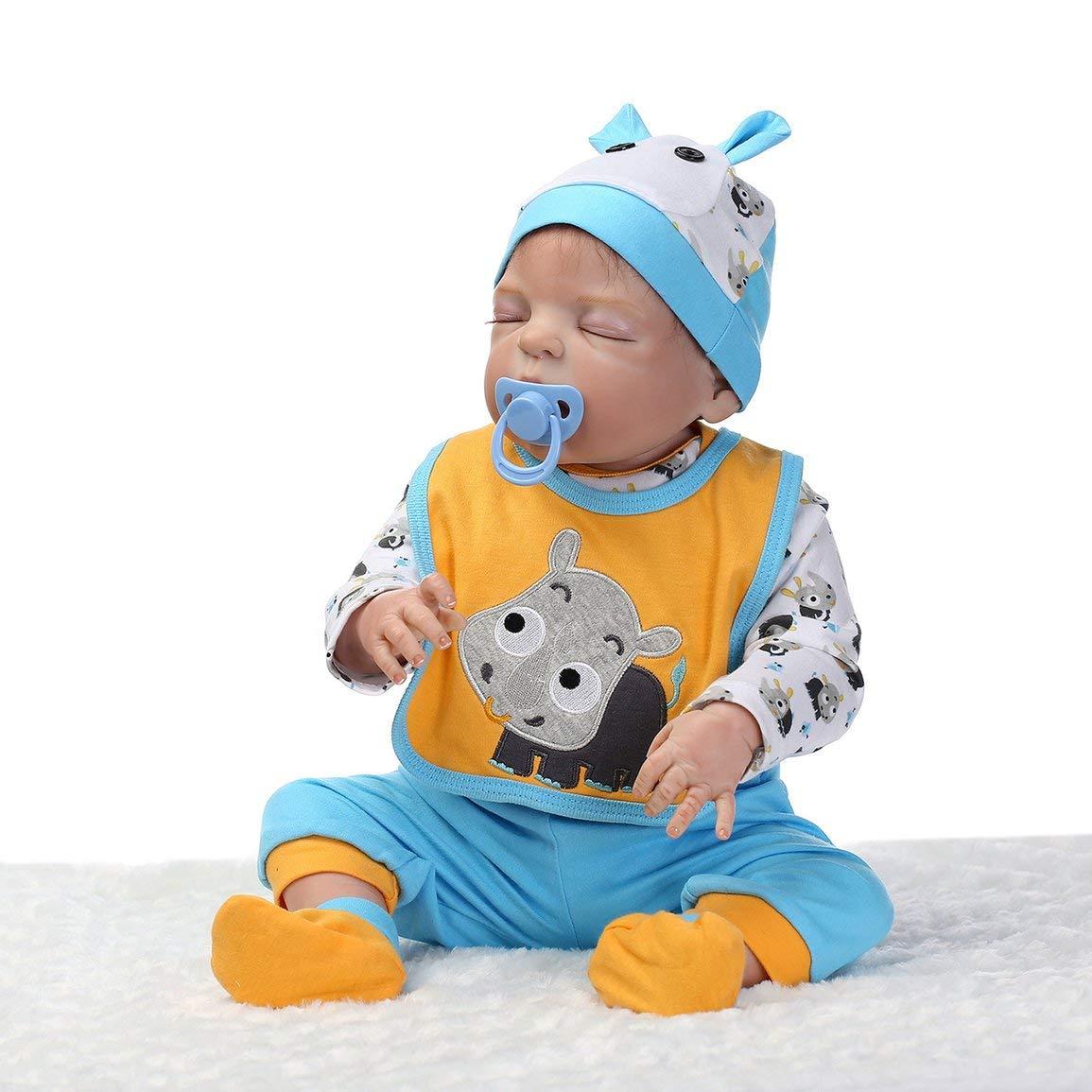 Fantasyworld 56cm Hecha a Mano del bebé renacido de la muñeca de Silicona Suave Vinilo muñeca de Seguro no tóxico Juguetes realistas recién Nacidos del bebé Juguetes de la muñeca