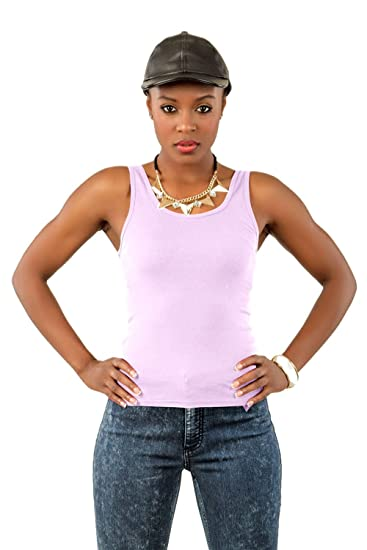 348ed45738bc4 Poetic Justice Curvy Women s Stretch Jersey Basic Scoop Neck Tank Top - 5  Colors Black