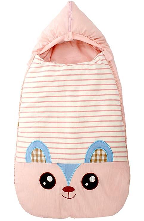 Happy Cherry Saco de Dormir Pijama Manta de Bebé Recién Nacidos para Invierno Cálido Suave Algodón
