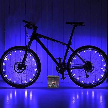 Wheel Brightz 2 Blue Light LED Bicycle Bike For 2 Wheels