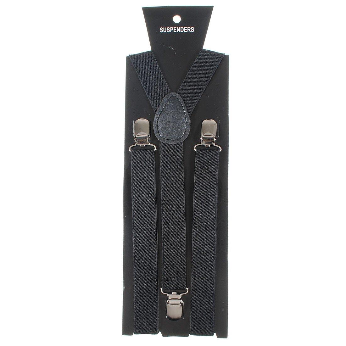 Adjustable Unisex Adult Child Elastic Clip-on Brace Suspender Y back Neon Belt,Black homeking Co. LTD