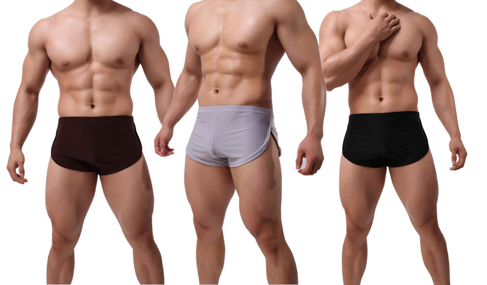 Farlenoyar 8 Pack Mens Cotton Breathable Comfort Soft Underwear Boxer Waistband Briefs