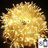String Lights,Bienna UL Listed Plug In 200 LED 100 ft/30M Multi Color Starry Fairy Lighting [8 Modes] [Waterproof] for Bedroom Outdoor Indoor Patio Home Christmas Xmas Holiday Wedding Party-Warm White