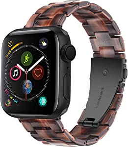LINKWOW Resin Strap Compatible with Apple Watch Band 38mm 40mm 42mm 44mm Series1 Series2 Series3 Series4 Series5,Ladies and Men Watch Strap,iWatch Replacement Wristband/Bracelet Sport, Nike+