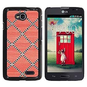 iKiki Tech / Estuche rígido - Pattern Wallpaper Pink Art - LG Optimus L70 / LS620 / D325 / MS323