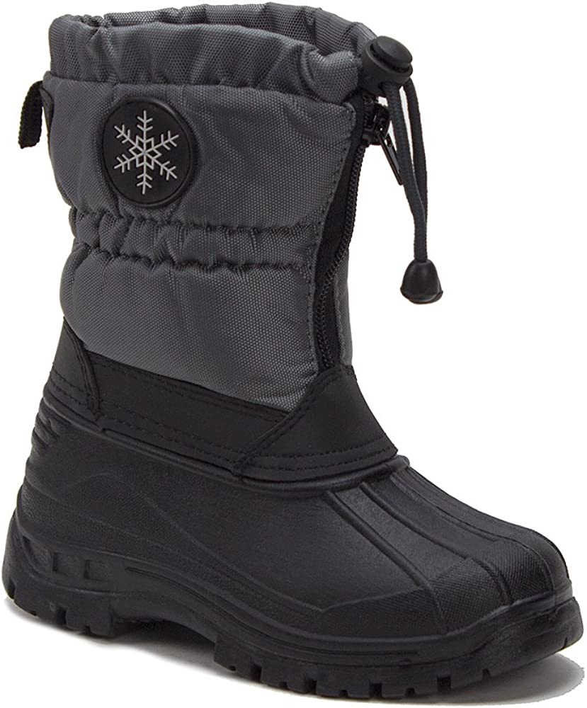 Jaime Aldo Unisex Boys /& Girls Icy-67 Zipped Water Resistant Fur Lined Winter Rain /& Snow Boots