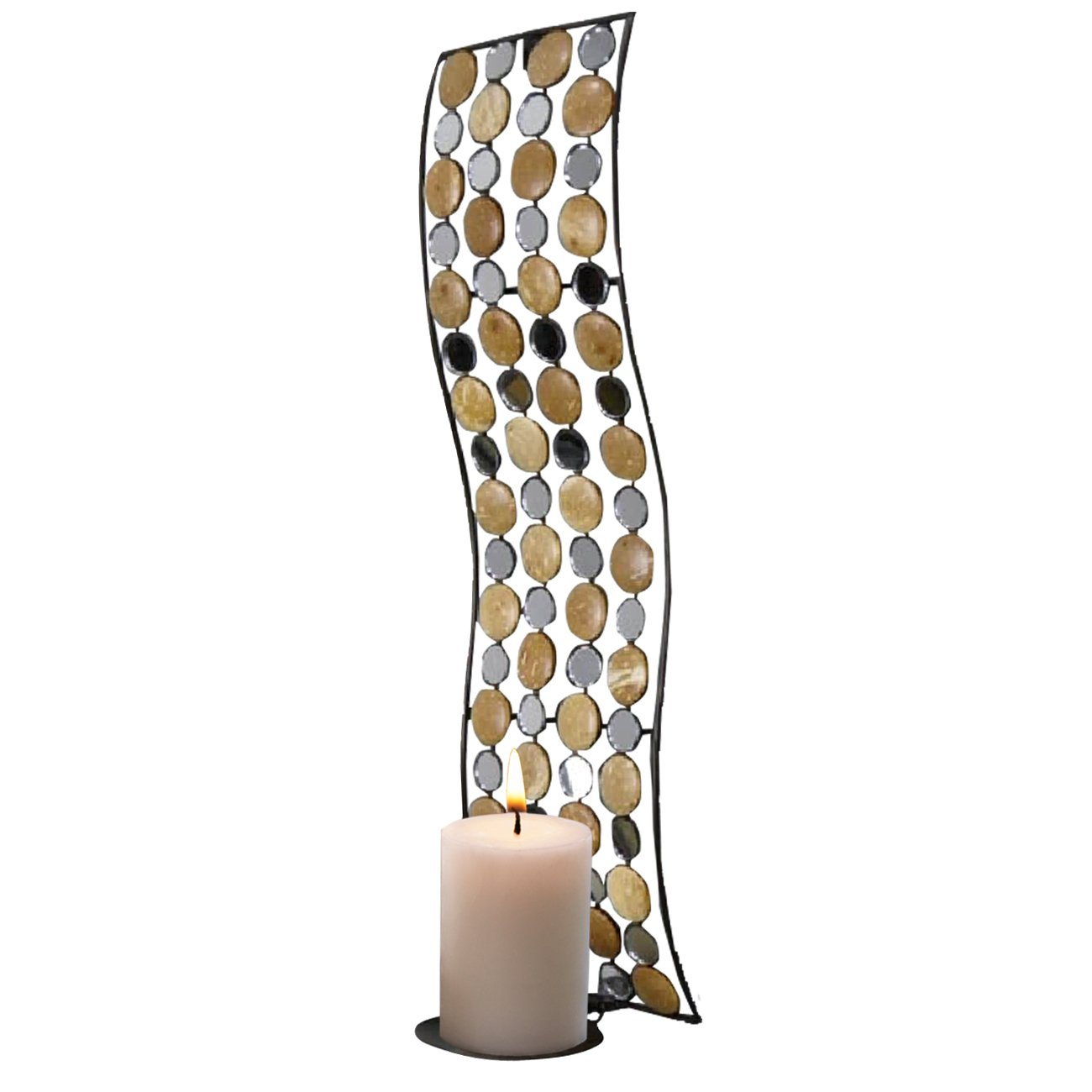 Home Source 400-22293 Decorative Metal Sconce with Candle Holder, 20.08 by 5.71-Inch Home Source Industries