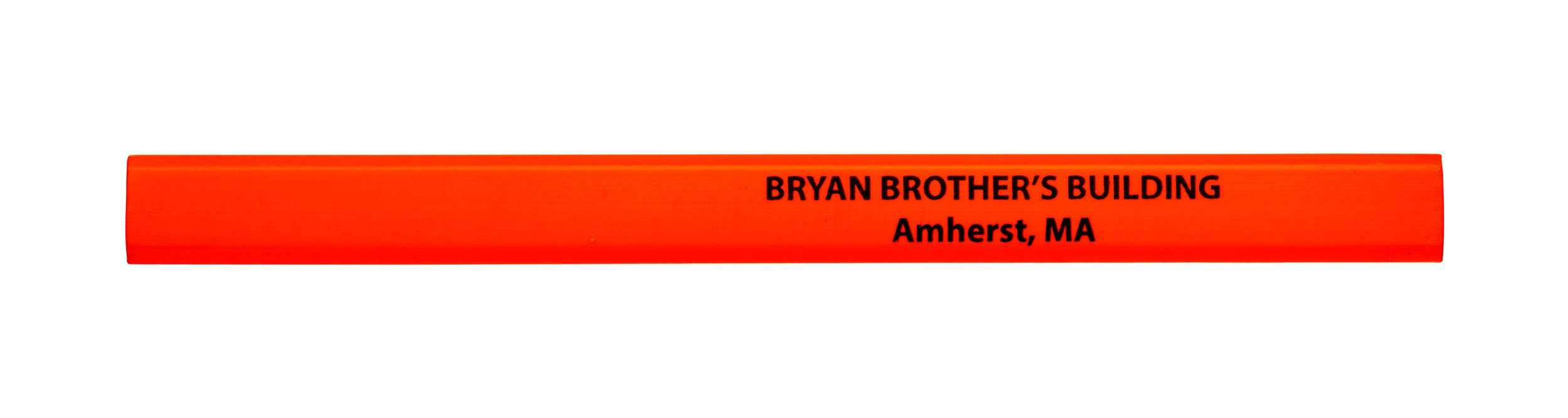 Pencil Guy Promotional Personalized Imprinted Neon Carpenter Pencils Neon Orange 72 to a box