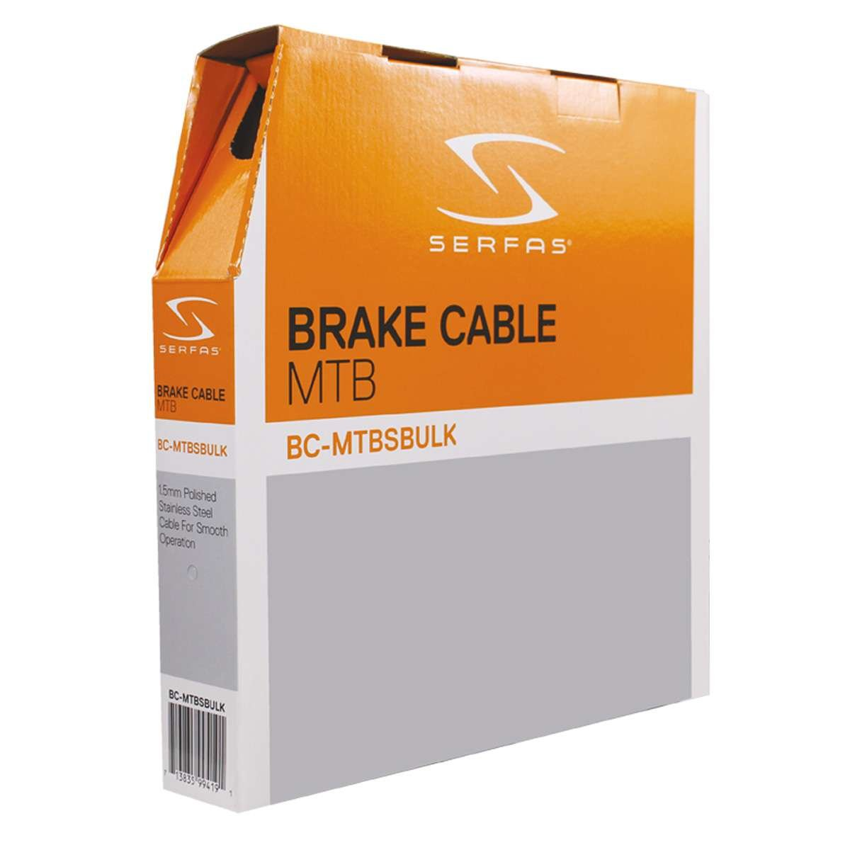 Serfas Mountain Bicycle Stainless Steel Bicycle Brake Cable - Bulk Box - BC-MTBSBULK