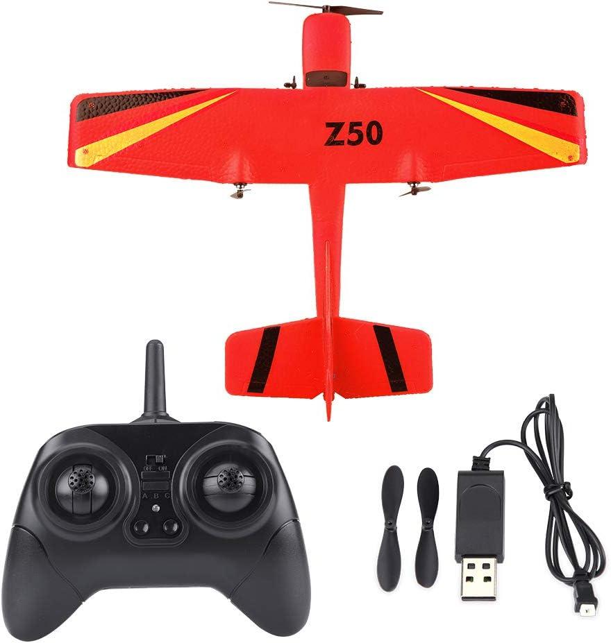 Dilwe RC Avion Juguete, 2.4G ZC-Z50 Control Remoto Plane Planeador EPP ala Fija Aviones de Control Remoto Modelo de Juguete(Rojo)