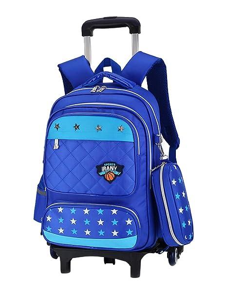 Zhhlaixing Casual Mochila con Ruedas para Escolares Viajar - Bolsa de Hombro Daypack Backpack Trolley Bolsos de libro Estudiante Maleta para Niño Niña: ...