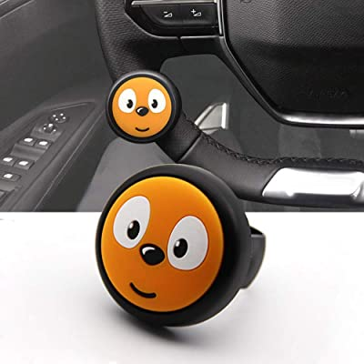 Cxtiy Steering Wheel Spinner Knob,Car Booster Suicide Spinner Knob Mini Power Handle for All Vehicle Auto SUV Truck Vans (Orange): Automotive