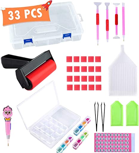 121Pcs 5D Diamond Painting Accessories Design Light Drill Pens Tools For Adults