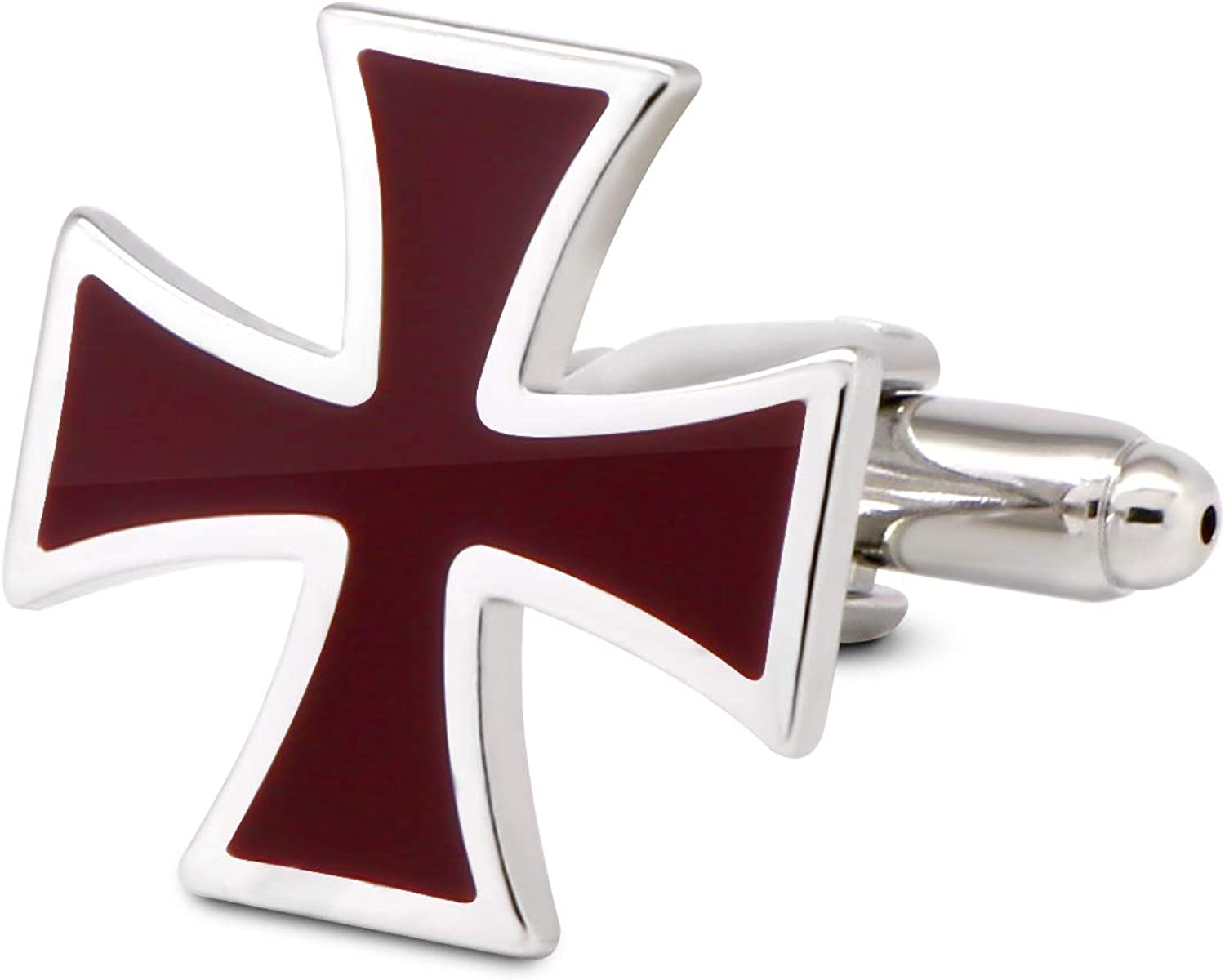 Celtic Cross Religious Cufflinks with Personalised Engraved Chrome Case