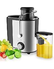 Bagotte Estrattori di Succo Estrattore per Centrifughe Professionale per Frutta e Verdura, Facile Pulizia, Acciaio Inox, Dual-Velocità, 600W, Senza BPA