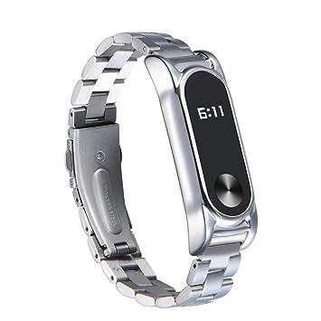 samlike para Xiaomi Mi Band 2 metal Reloj de pulsera Lujo Acero Inoxidable Ultra Fina Pulsera